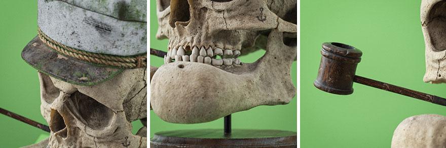 Cráneos anatómicamente correctos de conocidos personajes de dibujos animados, por el artista checo Filip Hodas