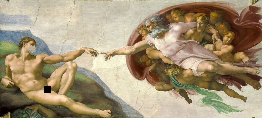 The Creation Of Adam By Michelangelo, 1512