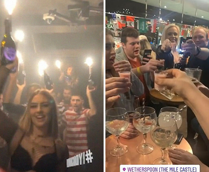 Brits Hit The Pubs And Clubs As They Defy Boris Johnson's 'Social Distancing' Warnings To Party Through The Night Despite Coronavirus Fears