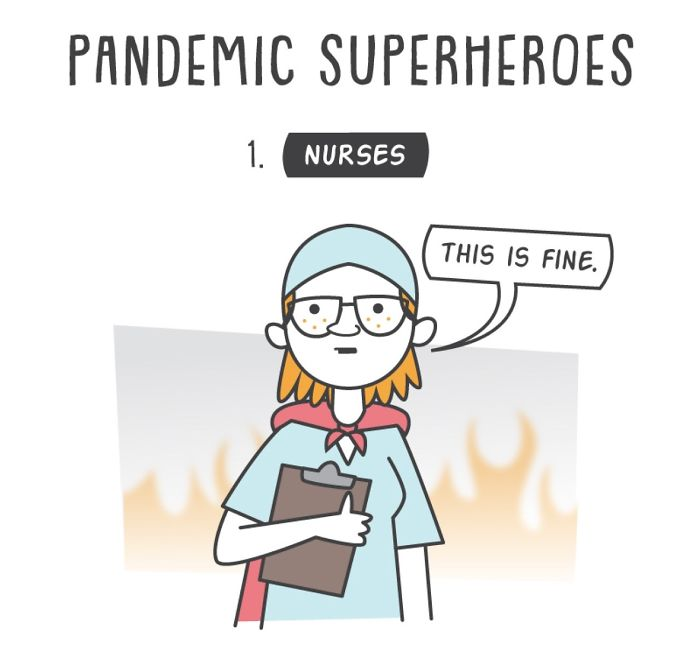 Artist Illustrates 7 Types Of Superheroes Of This Pandemic And We All Can Be At Least One Of Them