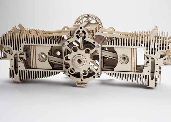 Aviation Professor Designs Highly Detailed And Intricate Laser Cut Models Of Classic Engines