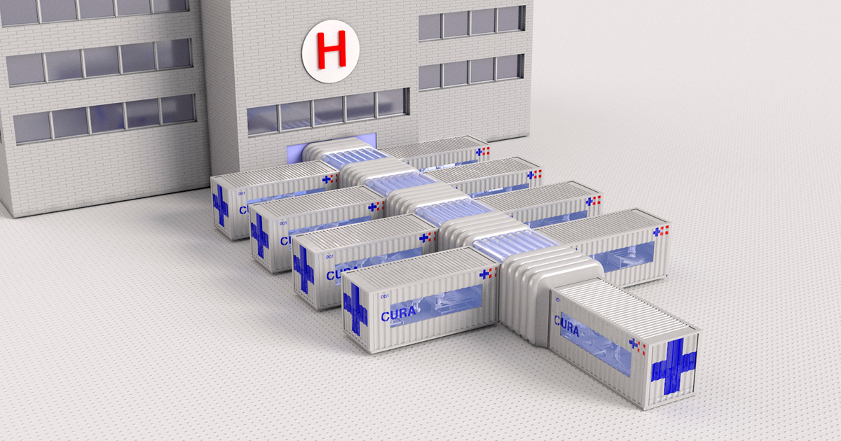 Italian Architects Design Quickly Deployable ICU Units From Shipping Containers