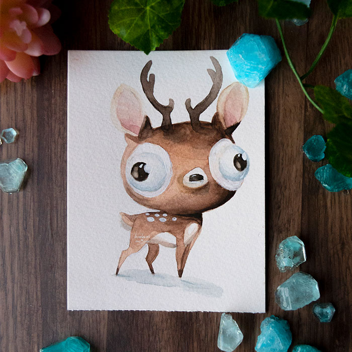 I Try To Make Your Day Better With These Paintings Of Derpy Animals I Made (12 Pics)