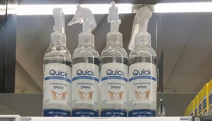 Este supermercado en Dinamarca puso en práctica un brillante truco para evitar el acaparamiento de desinfectante de manos