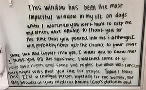 People Are Touched By This Message For Medics Left By A Discharged Coronavirus Patient