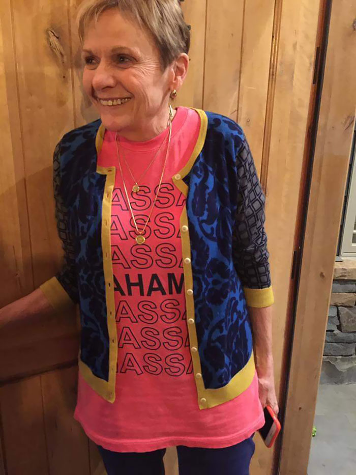 We Decided Grandma Shouldn't Wear Her Bahamas T-Shirt With A Sweater
