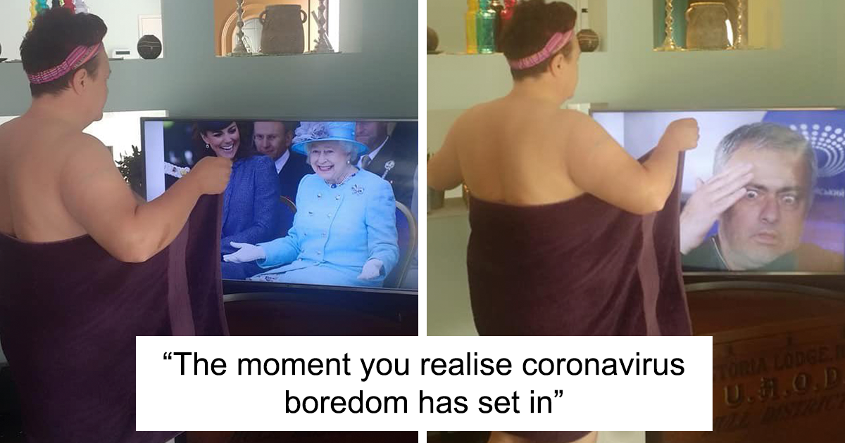 78 People Who Are So Bored Stuck At Home That They're Doing The Most Random Things | Bored Panda