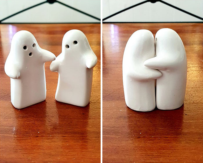 Hello! I'm An Avid Follower And This Here Is My First Post. I Found These Adorable Little Hugging Ghost Shakers In A Local Salvos (Bundoora, Australia) And I Just Had To Take Them Home With Me. At A Little $1 Each, They Make The Perfect Pair