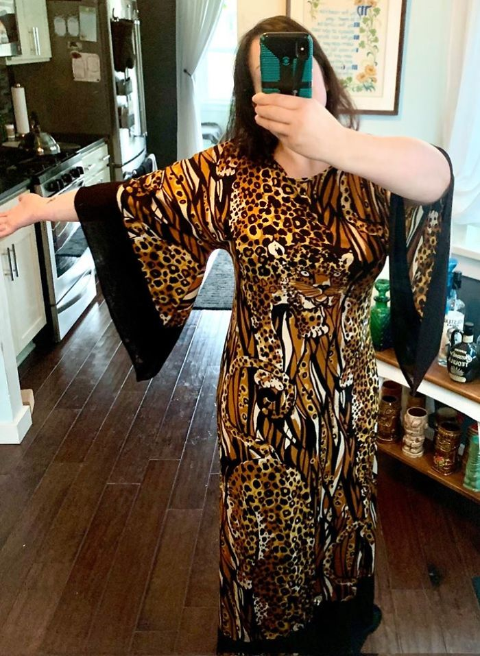 I Found This Awesome 70's Leopard Dress At A Vintage Store In Portland Or, I Have Been Waiting For The Right Occasion To Break It Out But I Think I Am Just Going To Start Wearing It To The Grocery Store