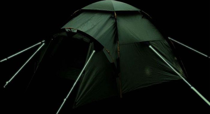 These Tent Ropes That Glow In The Dark Will Prevent Tripping Over Them At Night
