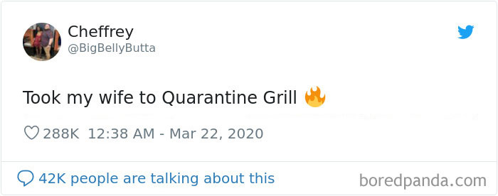 """Husband Surprises His Wife By Improvising A """"Quarantine Grill"""" Restaurant At Home"""