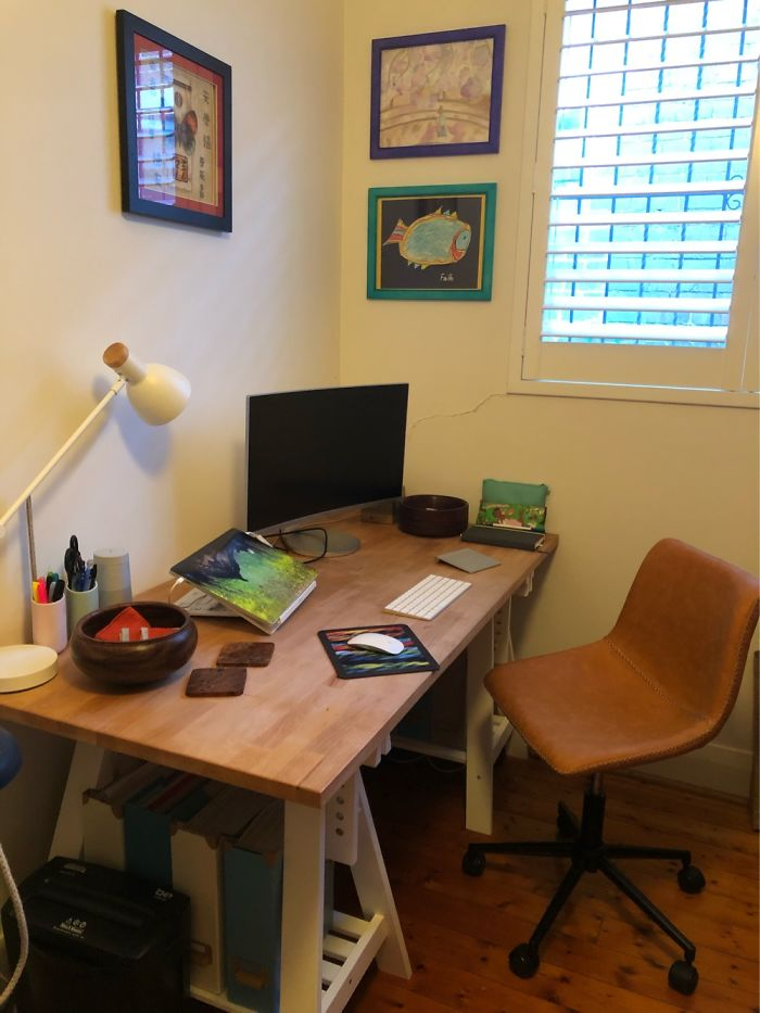 Cleaned Up My Daughters 'Study' (Read: Architecture Storage) And Converted It To My Home Office