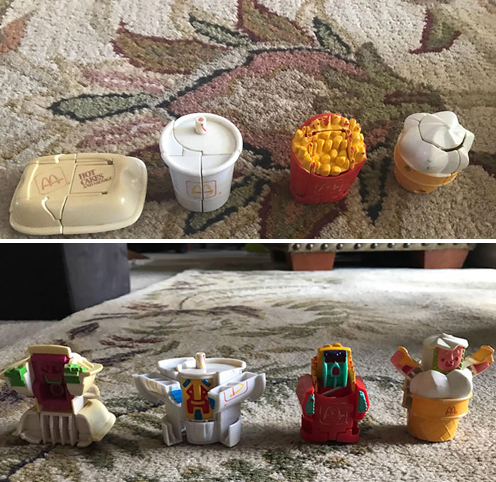 Mom Found My Old McDonald's Food Toys That Turned Into Robots