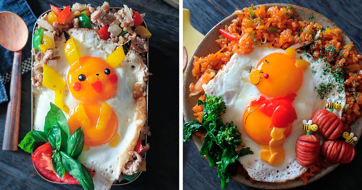 This Mom Of Three From Japan Has Eggstraordinary Skills To Make Cute Fried Egg Meals | Bored Panda