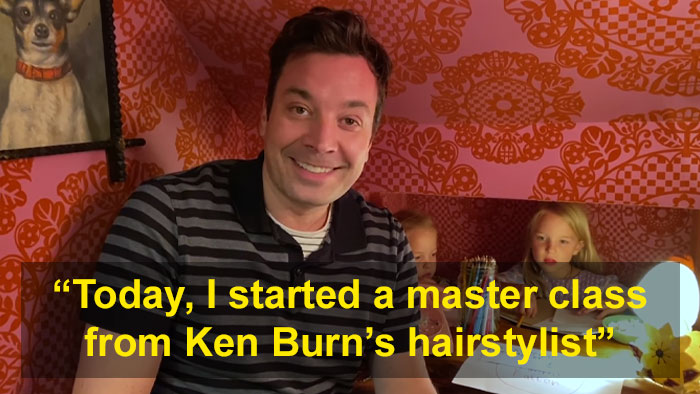 Jimmy Fallon's Kids Heckle Him As He Makes Jokes During His At-Home Tonight Show