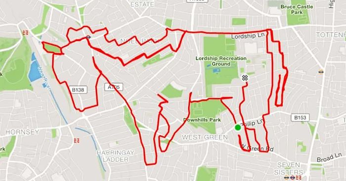Jogger Turns Running Routes Into Fun Animal Artwork Using A GPS ...