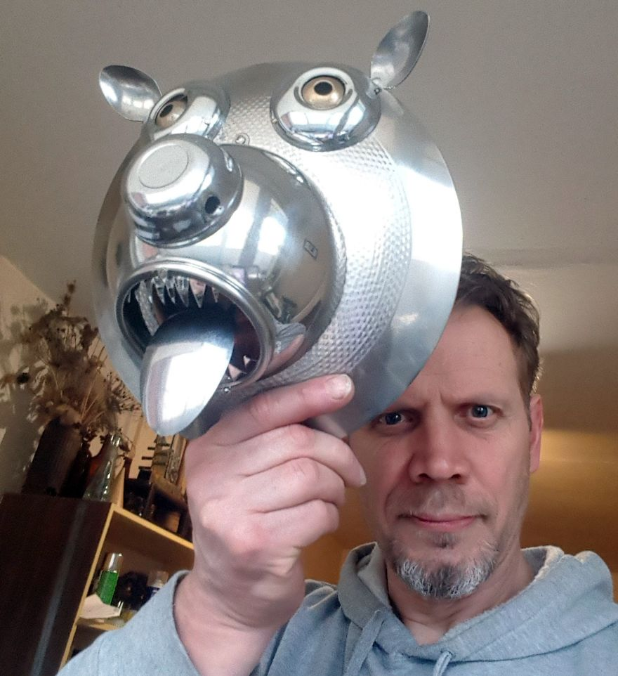 Author With A Bear Mask