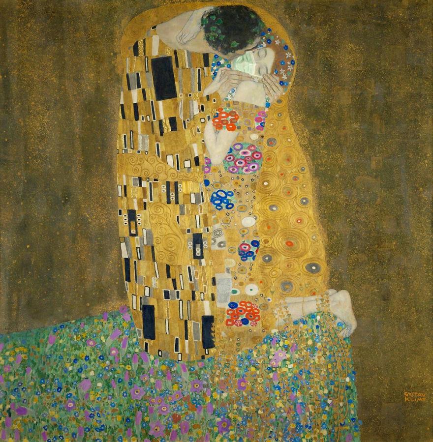 The Kiss By Gustav Klimt, 1907