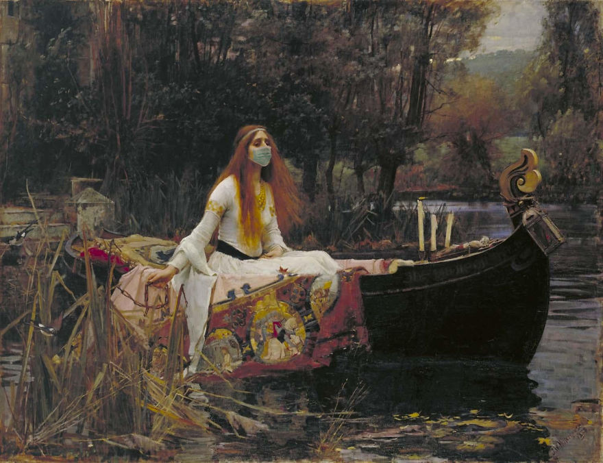Lady Of Shalott By John William Waterhouse, 1888