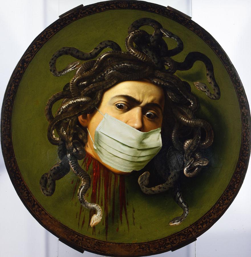 Medusa By Caravaggio, 1595-1598