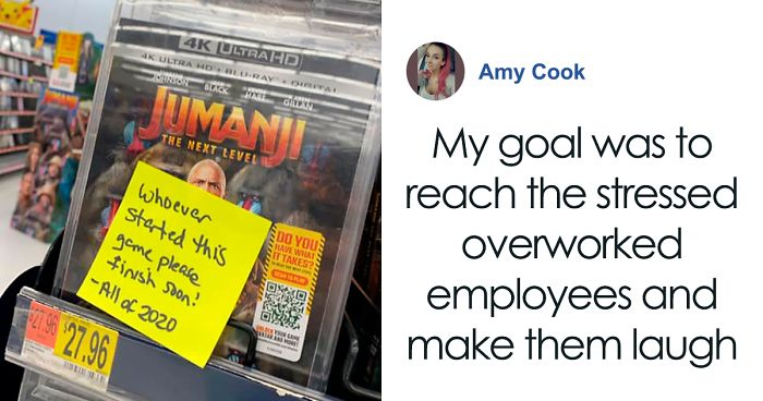 Woman Sticks Funny Notes On Random Objects In Walmart So People