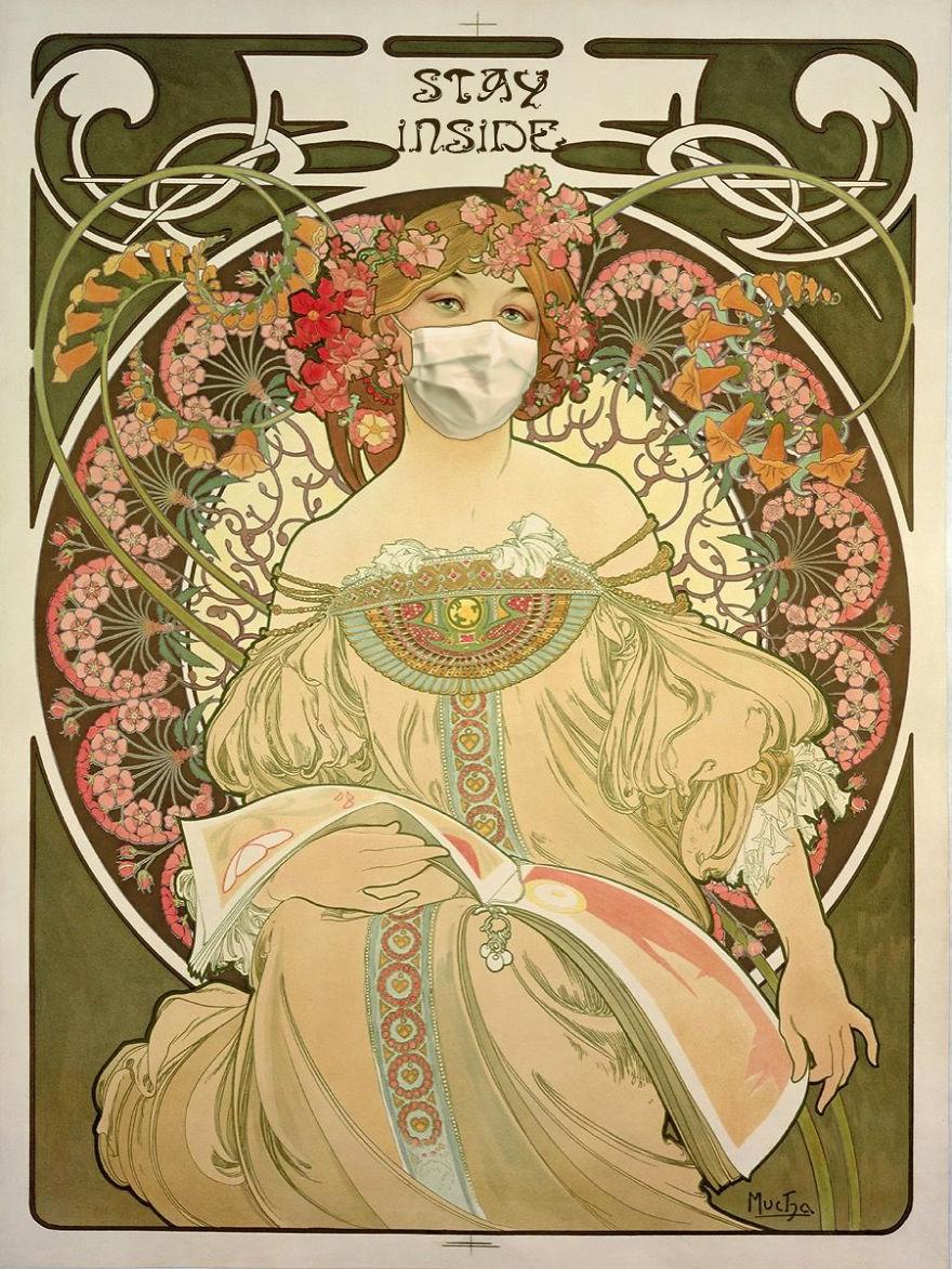 Reverie By Alphonse Mucha, 1897