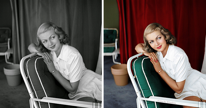 Classical Hollywood Stars Colorized By Russian Artist (30 Pics)