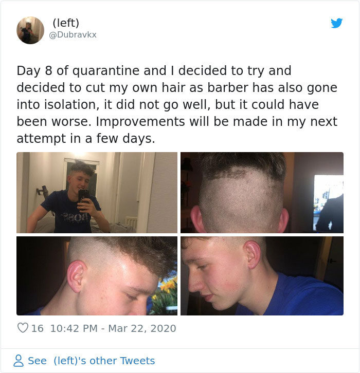24 Times People Tried To Do Their Own Hair During The Quarantine