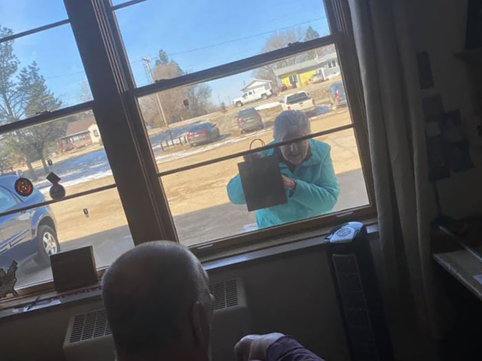 A Wonderful Surprise To One Of Our Residents This Morning! No Matter The Issues We're All Facing Right Now, It's The Little Things Like This That Can Brighten Any Day