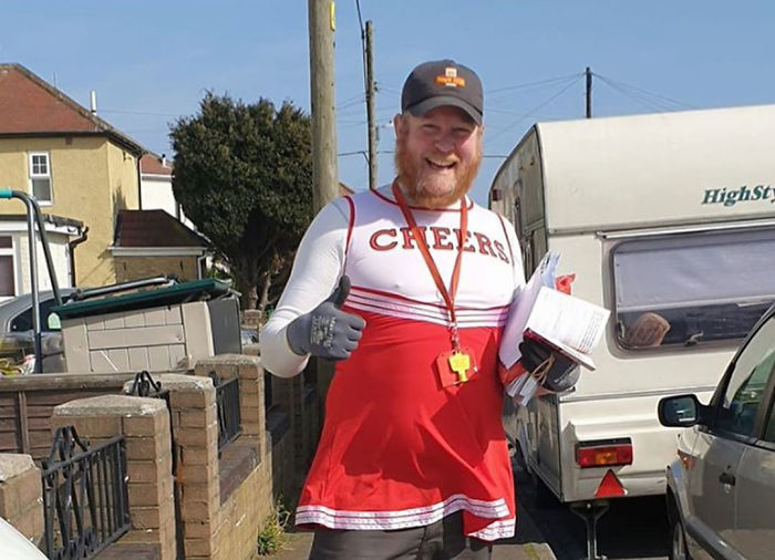 Postman Is Doing His Deliveries In Funny Costumes To Cheer People Up