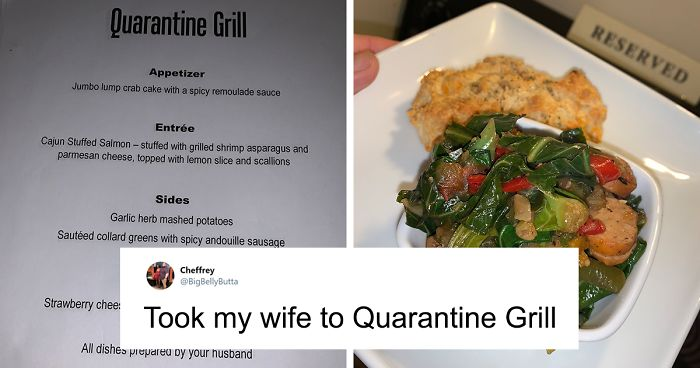 "Man Creates A ""Quarantine Grill"" To Help Take His Wife's Mind Off Of The Pandemic"