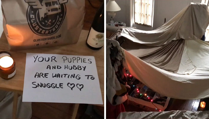 Guy Builds A Relaxing Fort For His Stressed-Out Doctor Wife During This Hard Pandemic Period