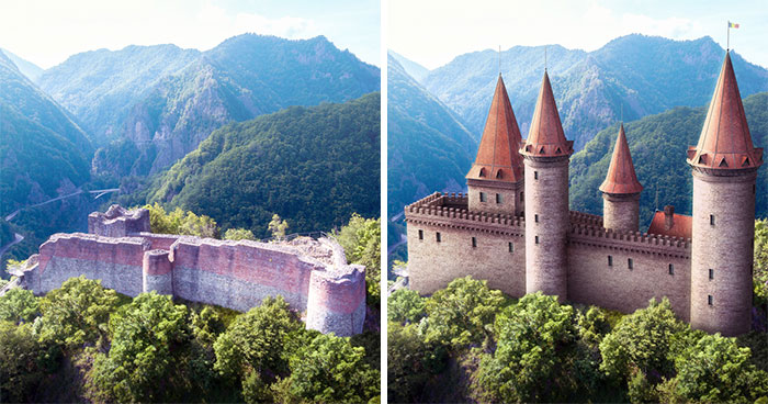 This Is What 7 Castles Across Europe Looked Like Before Falling Into Ruins