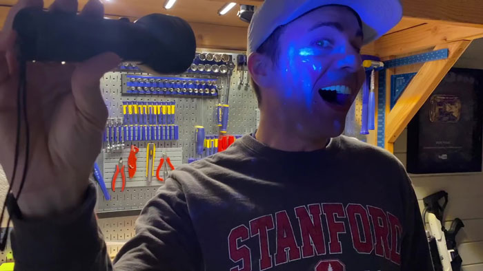 Former NASA Engineer Uses Glow Powder To Show How Fast Germs Can Spread