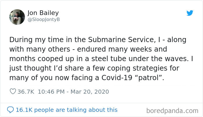 A Guy That Worked On Submarines Explains How To Endure Long Periods Of Isolation