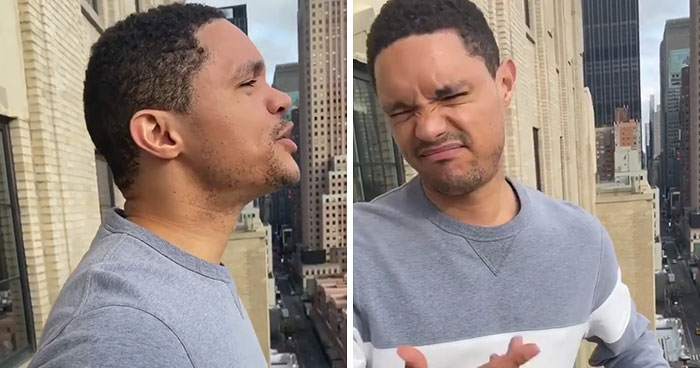 Trevor Noah Tries Singing From A Balcony In NYC Just Like People Did In Italy But Gets Told To Shut Up