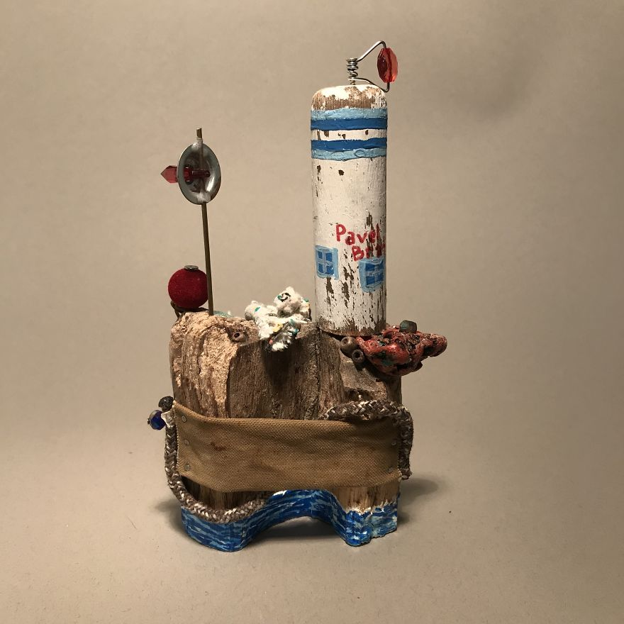 I Created These Miniatures From Beach Trash