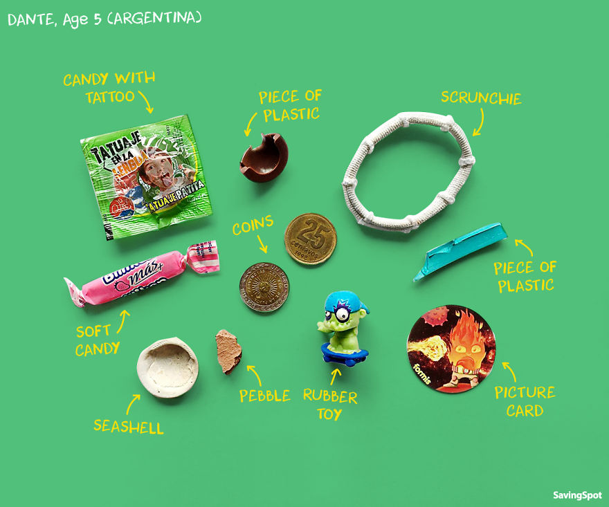 Preschoolers From 5 Different Countries Show What They Carry In Their Pockets