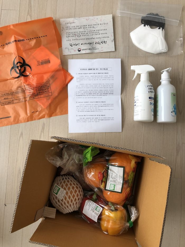 This Is What The South Korean Government Comfort Package For Quarantined People Looks Like
