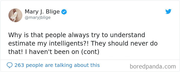 When Mary J. Blige Misspelt 'Intelligence' As 'Intelligents.'