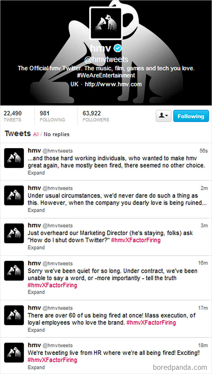 When Hmv's Social Media Team Went Rogue
