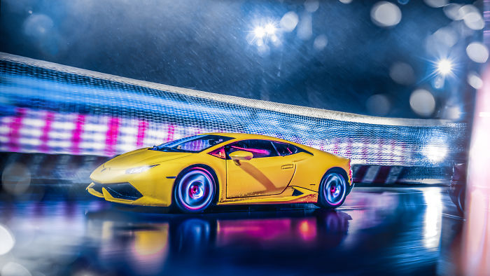 Car Photographer Stuck At Home Due To Coronavirus Pandemic Does A Stunning Photoshoot With A Toy Car