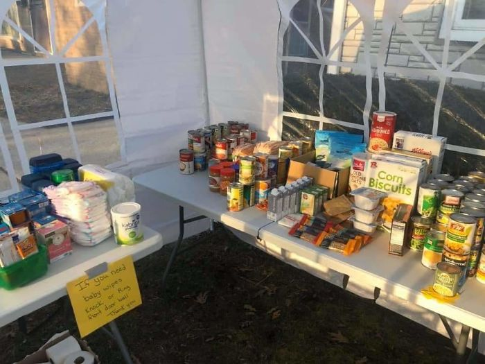"""Family Sets Up A """"Give And Take"""" Outdoor Pantry, Doesn't Expect It To Grow So Big"""