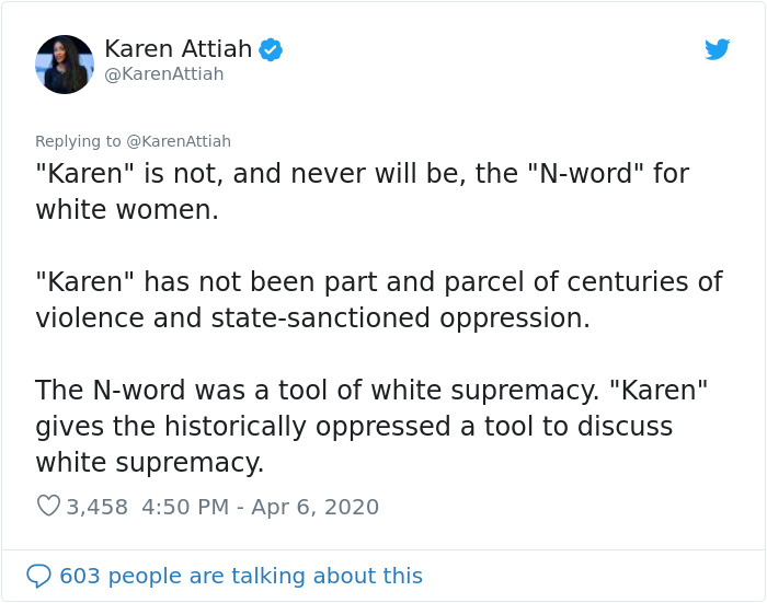 """Feminist Suggests """"Karen"""" Is A Sexist Slur Against Women, People Drop Some Knowledge On What """"Karen"""" Really Means"""