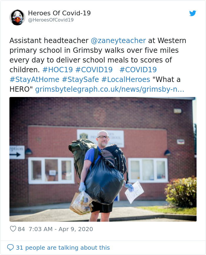 Teacher Is Being Called A Hero After Delivering 78 Free School ...