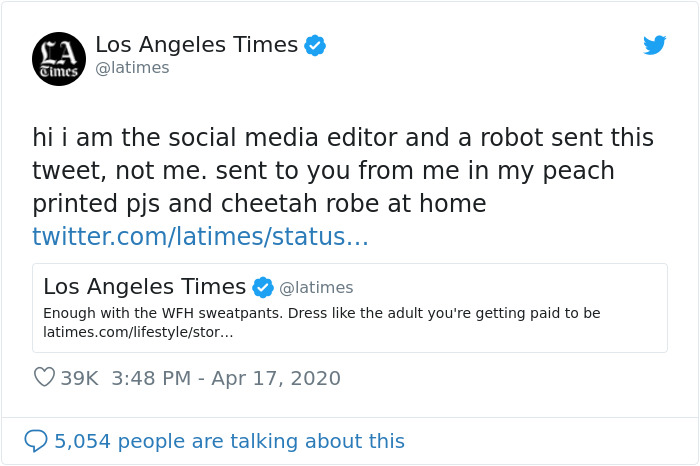 Fashion Writer Says People Shouldn't Wear Sweatpants For Work At Home, People Online Disagree