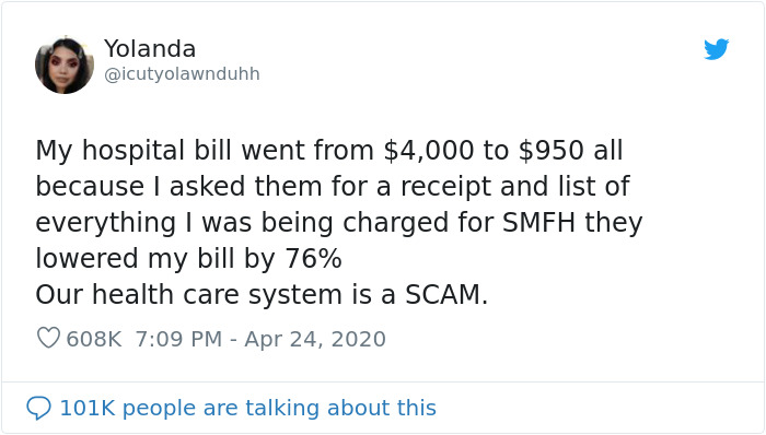 Americans Share How Much Their Hospital Bills Have Gone Down Just Because They Asked For An Itemized Receipt