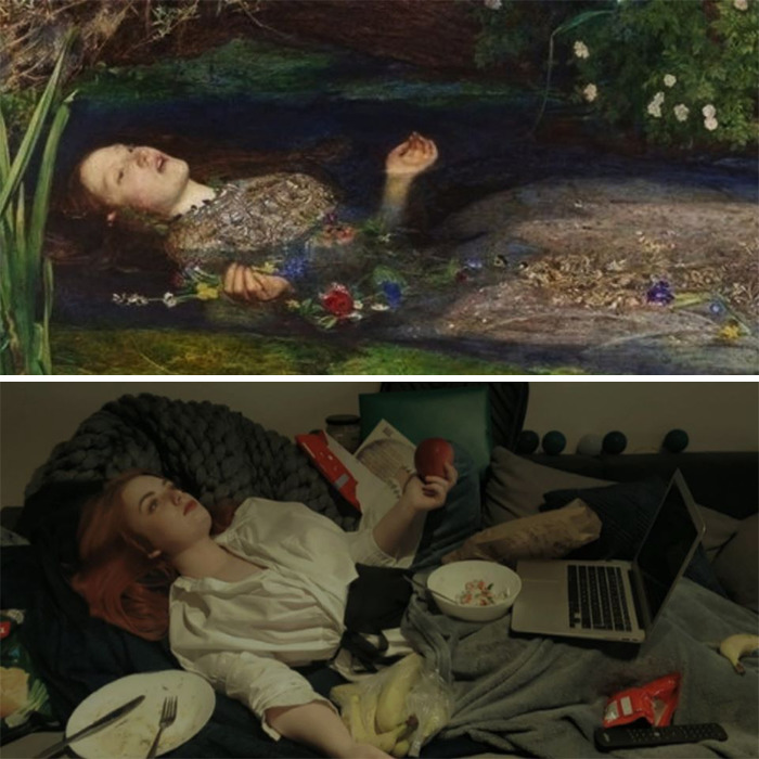 This Russian Facebook Group Is Dedicated To Recreating Famous Art Pieces While Isolating And Here Are The 27 Best Works