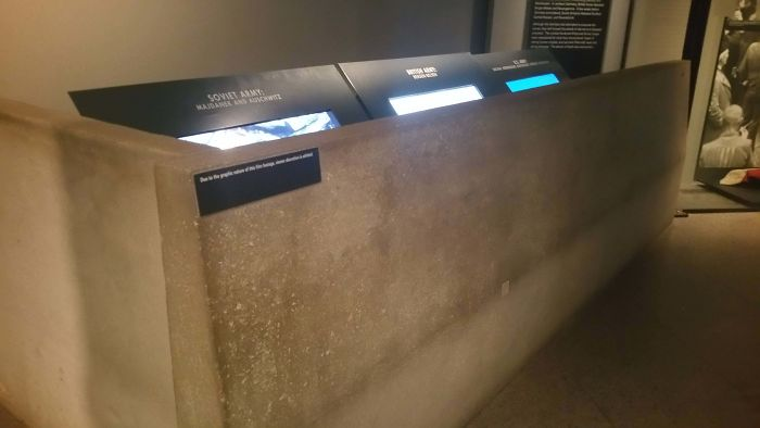 The National Holocaust Museum In DC Puts Screens With Graphic Images Behind Cement Barriers So Children Can't See Them