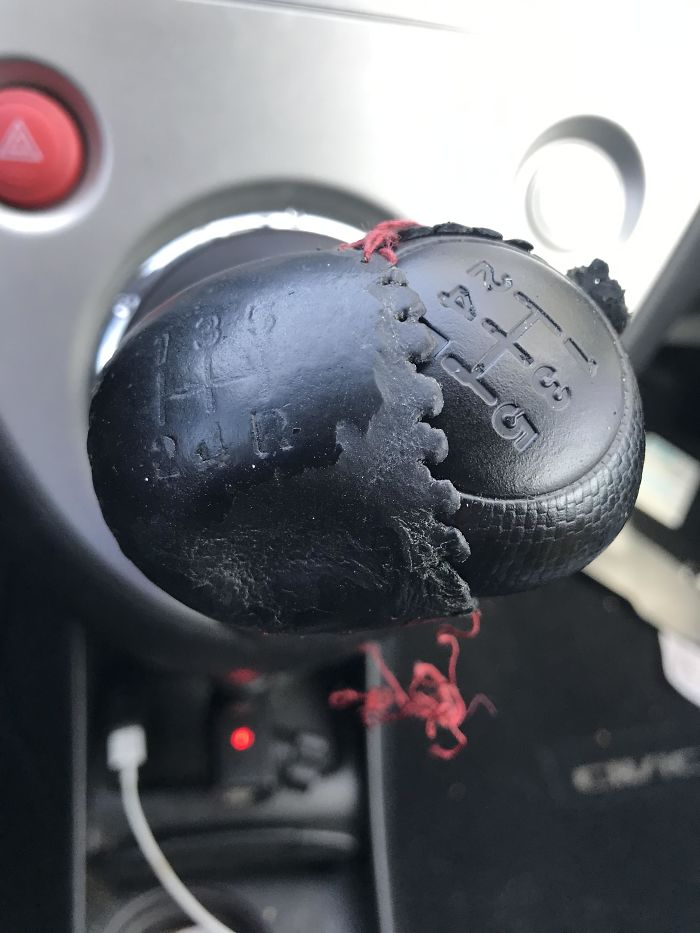 My Aging Shift Knob And A Perfectly Good One Lurking Underneath